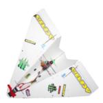 Оригинал              550 мм Размах крыльев DIY Волшебный Доска бумаги RC Самолет RC Самолет PNP для начинающих