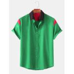 Оригинал              Повседневные рубашки с коротким рукавом с отложным воротником