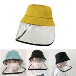 Оригинал              ZANLURE Детская Противотуманная Слюна Пылезащитный Защитный Рыбак Ведро Шапка Прозрачный Защитный Маска Шапка