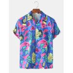 Оригинал              Мужская куртка с надписью Colorful Граффити с геометрическим рисунком и короткими рукавами