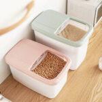 Оригинал              20 кг хранения продуктов питания Коробка рисовая кухня контейнер для хранения зерна хранения Кот игрушки для мусора Ttorage Коробка для путеше