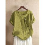 Оригинал              Повседневная футболка с коротким рукавом с короткими рукавами и принтом Bird For Женское