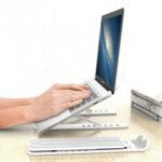 Оригинал              Портативная алюминиевая складная подставка для ноутбука с регулируемой высотой Тепловыделение для ноутбука 11.0 – 17.0 дюймов