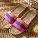 Оригинал              Женский цвет блока с открытым носком Тапки