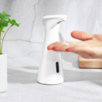 Оригинал              Bakeey Touchless Automatic Liquid Foaming Мыло Диспенсер для пластика Мыло Диспенсер для душа Кухонная ванна Ванная комната