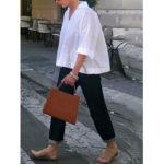 Оригинал              Свободный отложной воротник с рукавами 3/4 Повседневная блузка с v-образным вырезом для Женское