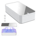 Оригинал              KEPHE LED UV Стерилизатор Коробка Беспроводное зарядное устройство для телефона Comestics Personal Care Набор UV Аккумуляторная смарт-телефон для дезинфе