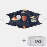 Оригинал              2Pcs PM2.5 Фильтр Planet Non одноразовые маски с дыхательной маской