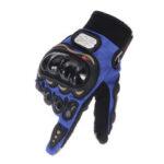 Оригинал              Внедорожник езда Full Finger Перчатки Сенсорный экран мотоцикл MTB Велосипед Спорт теплый синий