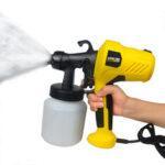 Оригинал              [EU Plug] Электрический распылитель краски Съемный компрессор высокого давления безвоздушного распылителя с регулировочной ручкой для автом