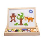 Оригинал              Деревянная магнитная доска для рисования для детей раннего обучения Jigsaw Puzzle S
