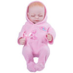 """Оригинал              11 """" Real Life Lifelike Reborn Baby Dolls Полный Силиконовый Спящая Розовый Ткань Девушка"""