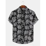 Оригинал              Повседневная рубашка с коротким рукавом с принтом в виде граффити и короткими рукавами