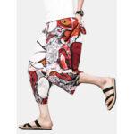 Оригинал              Мужское Хлопковое Белье Этнический Тайский Слон Печати Свободный Мешковатый Гарем Брюки