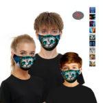 Оригинал              Animal series-5 Layers Анти PM2.5 Пыленепроницаемое лицо Маска Воздухопроницаемый защитный Маска Ветрозащитный Для На открытом воздухе Спорт Велоспо