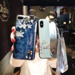 Оригинал              Мода цветок магнолии Шаблон с ремешком на запястье Ударопрочный ТПУ Защитный Чехол для iPhone X/XS/XS Макс / XR / 6 / 6S / 6 Plus / 6S Plus/7/8/7 Plus/8 Plus