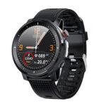 Оригинал              Microwear L15 BT5.0 Артериальное давление Кислород в крови Монитор Фитнес Трекер Фонарик IP68 Водонепроницаемы Мужчины Спорт Смарт Часы Браслет для