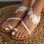 Оригинал              Женское богемное кольцо на пальце ноги на плоской подошве Сандалии