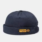 Оригинал              Шляпа без полей сплошной цвет, маркировка Letter Череп Caps