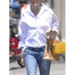 Оригинал              Отворот с длинным рукавом Кнопки повседневная блузка с рукавами 3/4 для Женское