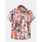 Оригинал              Мужские рубашки с цветочным принтом и воротником-рубашкой Hawaii Holiday