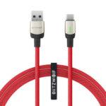 Оригинал              BlitzWolf®BW-TC21 3A LED Type-C Кабель Nylon Плетеный кабель для быстрой зарядки данных 3,3 фута / 6,6 фута с 22 AWG Power + 29 AWG Данные для Samsung S20 Xiaomi 9T Note8 Huawei Redmi LG