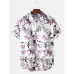 Оригинал              Мужские повседневные рубашки с цветочным принтом и короткими рукавами