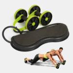 Оригинал              Многофункциональное колесо для мышц брюшного пресса с двумя колесами Muscle Ролик Pull RopeАвтоматический отскок спортивного инвентаря