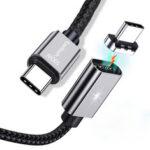 Оригинал              Twitch 100 Вт PD Магнитный Type-C до Type-C Nylon Плетеный кабель для передачи данных для Samsung S20 Xiaomi Redmi Note 8 для ноутбука Matebook
