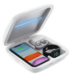 Оригинал              Bakeey 4 в 1 UV Light Сотовый телефон дезинфицирующее средство для лица Маска Ювелирный стерилизатор для телефона Коробка с беспроводным зарядным