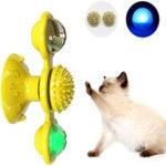 Оригинал              Pet Интерактивная игра-головоломка Кот Игрушечный поворот вокруг мельницы Проигрыватель с шариком LED и шаром Котnip Tease Игрушка для домашних