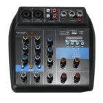 Оригинал              4-канальный USB портативный аудио микшер Bluetooth для дома KTV Live Studio Консоль микширования звука