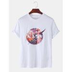 Оригинал              Мужская дизайнерская лунная цветочная команда Шея с короткими рукавами, дышащая футболка