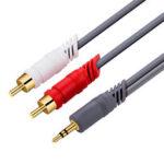 Оригинал              JINGHUA Аудиокабель 3,5 мм – 2RCA 3,5 мм Hi-Fi стереофонический разъем RCA AUX-кабель Y Разветвительный кабель для Мобильные Телефоны Компьютерные усилит