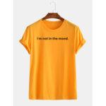 Оригинал              Мужские забавные дышащие круглые футболки с надписью «Слоган» Шея