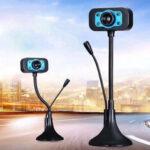 Оригинал              Гибкая HD USB Webcam Conference Live Manual Фокус с LED ночным видением Fill Light Подключи и играй компьютер камера Встроенный шумоподавитель Микрофон для порт