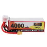 Оригинал              ZOP Power 22.2V 4000mAh 100C 6S Lipo Батарея XT60 Разъем для FPV RC Дрон