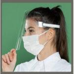 Оригинал              Защитный регулируемый Анти Пылезащитный пыленепроницаемый анфас Маска Visor Shield Капельный ветрозащитный лицевой щиток Моющийся детский Ма
