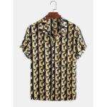 Оригинал              Мужские хлопковые абстрактные 3D с геометрическим принтом повседневные с коротким рукавом Рубашка