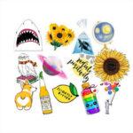 Оригинал              53X Fresh Summer Graffiti Stickers Trolley Чехол Авто Компьютерный холодильник Водонепроницаемы