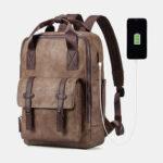 Оригинал              Мужская многофункциональная USB зарядка Сумка Твердый рюкзак большой емкости