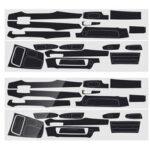 Оригинал              Виниловая наклейка интерьера из углеродного волокна LHD для BMW 7 серии F01 F02 2009-2014