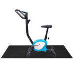Оригинал              150x75CM Коврики для велотренажеров эллиптические мотоцикл Велосипедные коврики Противоскользящие Фитнес Yoga Коврики Ударопоглощающие коври