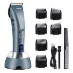 Оригинал              Машинки для стрижки волос для мужчин, Hizek Beard Триммер Профессиональные беспроводные волосы Триммер с 3 регулируемыми скоростями, светодиод