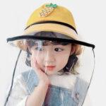 Оригинал              Детский пылезащитный колпачок съемный лицевой экран ветрозащитный прозрачный рыбак Шапка