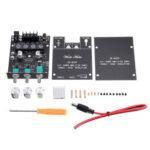 Оригинал              Версия тона 50 Вт * 2 Bluetooth 5.0 Мощность звука Усилитель Модуль платы Регулировка высоких и низких частот Сабвуфер Двухканальный стерео ZK-502T Hi-F