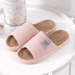 Оригинал              Женщины удобный открытый носок сплошной цвет дома Тапки