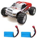 Оригинал              WLtoys A979B с двумя Аккумуляторы 1/18 2.4G 4WD Monster Truck RC Авто Модель RTR 70 км / ч