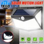 Оригинал              212 Led На открытом воздухе Солнечная Настенный светильник Motion Датчик Водонепроницаемы Безопасный светильник