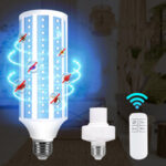 Оригинал              60W UV Бактерицидный стерилизатор Кукуруза Лампа 85-265 В E27 LED UVC Лампа с 110 В / 220 В Дистанционное Управление